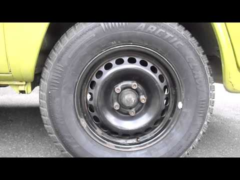 vw type 2 bus tire size