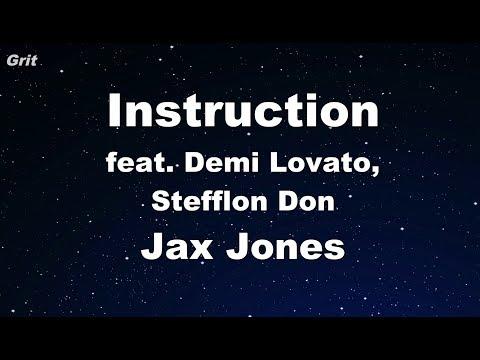 Instruction ft. Demi Lovato, Stefflon Don - Jax Jones -  Karaoke 【No Guide Melody】 Instrumental