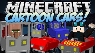 Minecraft | CARTOON CARS! (Drive a Ferrari, Jeep, Truck & More!) | Mod Showcase