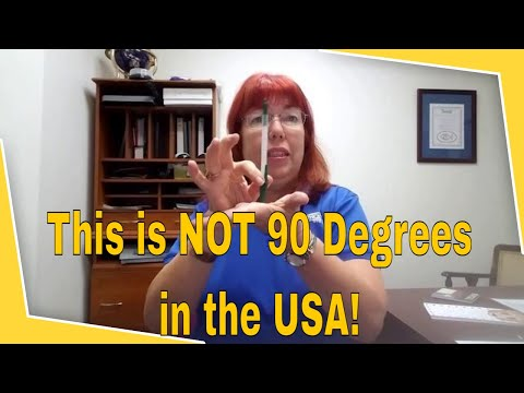 90 Degrees is Zero Degrees to a USA Scissor Sharpener!