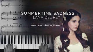 Lana Del Rey Summertime Sadness Piano Sheets Youtube