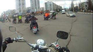 Мотозабег 22 февраля 2015 года в Новороссийске
