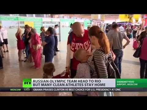 Destination Rio: Russian team head for Olympics 2016 but many clean athletes stay home