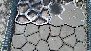 видео Садовая дорожка своими руками при помощи формы: отзывы и фото + инструкция как сделать формы для изготовления дорожки