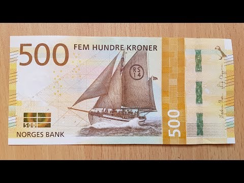 New 500 Norwegian Krone (NOK) Banknote 2018