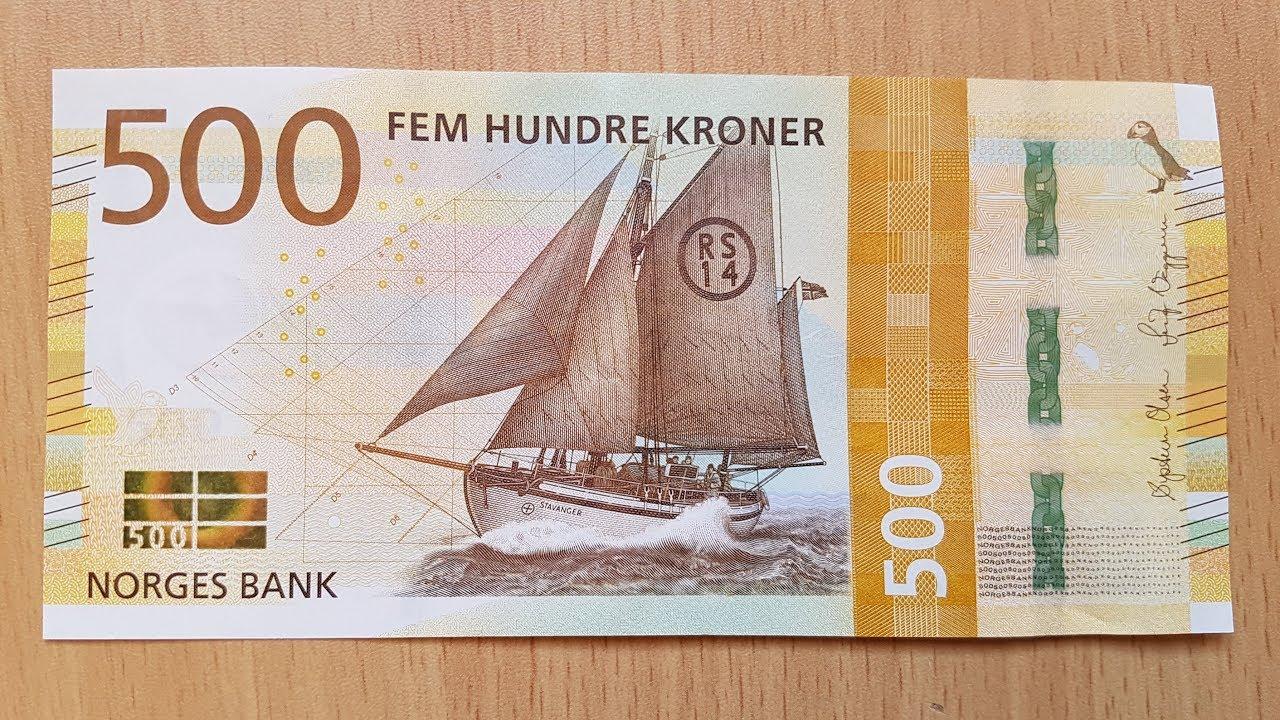 New 500 Norwegian Krone Nok Banknote 2018