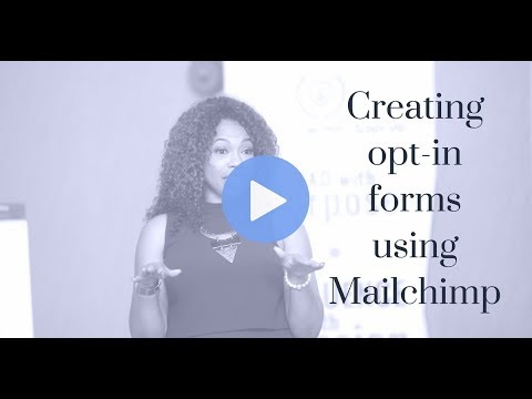 Creating Opt In Forms using Mailchimp - YouTube