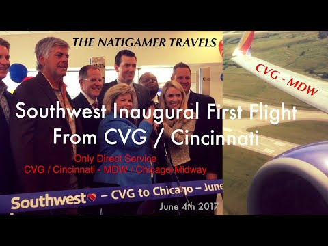 Southwest Airlines Inaugural First Ever Flight from CVG / Ci