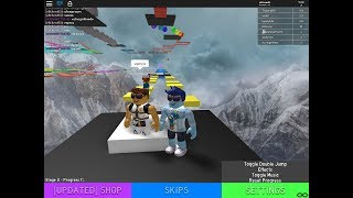 parkour super funny with my cousin nacho in roblox.