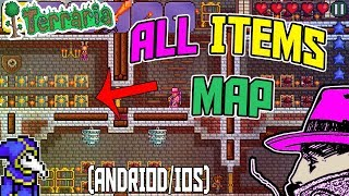 Terraria ANDROID/IOS 1.2.12785 All Items Map With MODDED ITEMS!!!