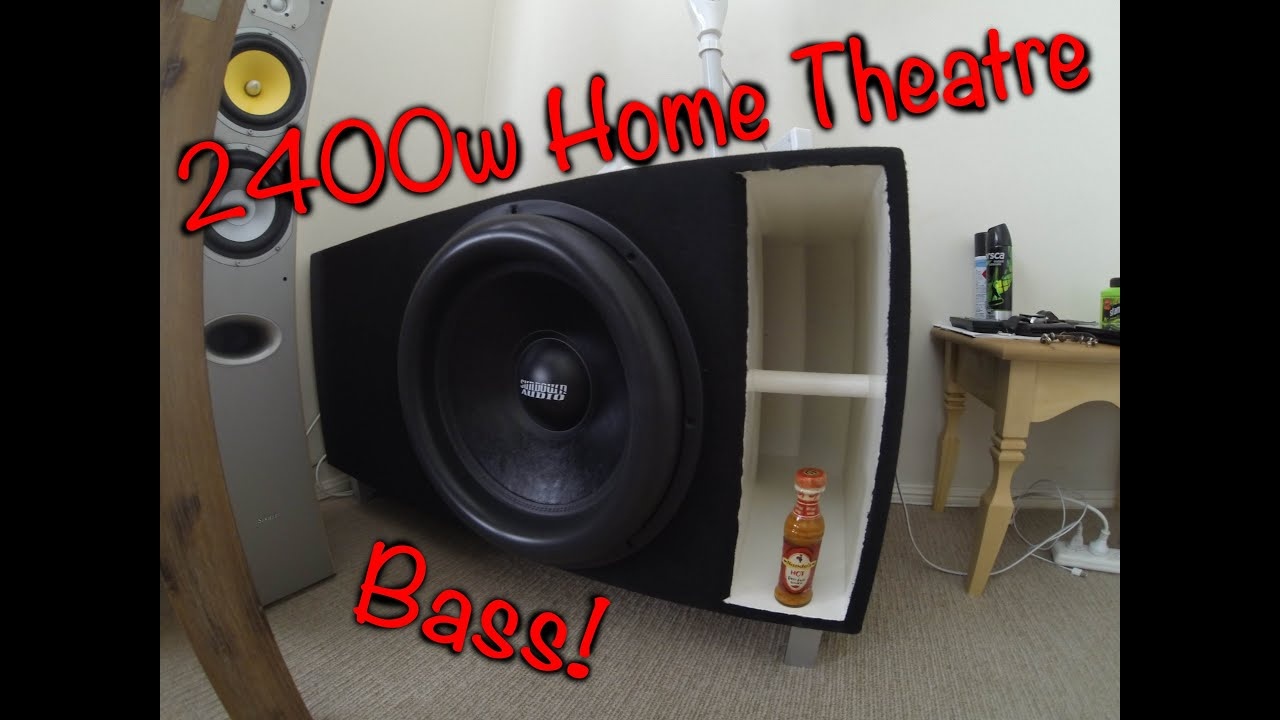 2400w home theatre bass - youtube