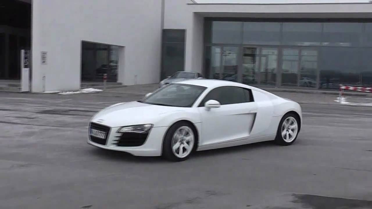 Audi R All White StartUp SOUND Flyby YouTube - All white audi