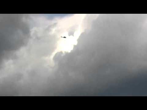 AS 332 L Super Puma Bundespolizei Überflug