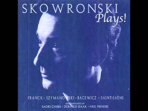 Skowronski Plays! Saint-Saëns Violin Sonata in D Minor (Part II)