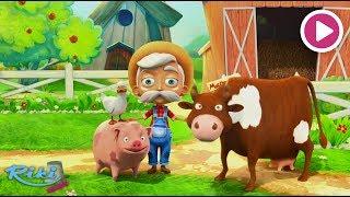 Животные на ферме | Old MacDonald Had A Farm | Песенка для детей