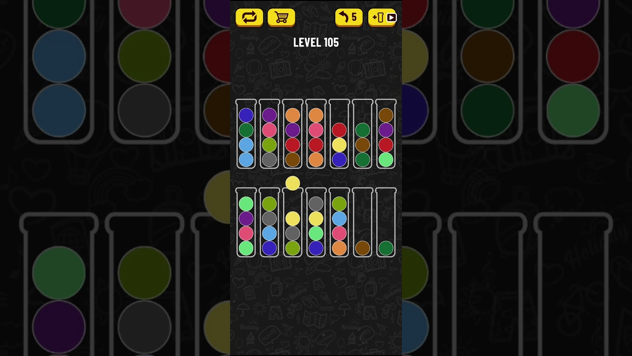 Ball Sort Puzzle Level 105 Youtube
