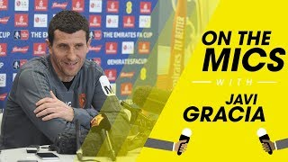 ON THE MICS 🎤 | JAVI GRACIA FA CUP FINAL PRESS CONFERENCE 🗣