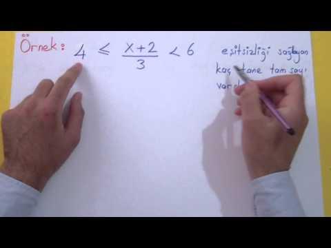 Basit Eşitsizlikler(Reel Sayılar) Şenol Hoca Matematik
