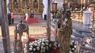 El Rey protagoniza una Ofrenda al Apóstol marcada por la Covid-19