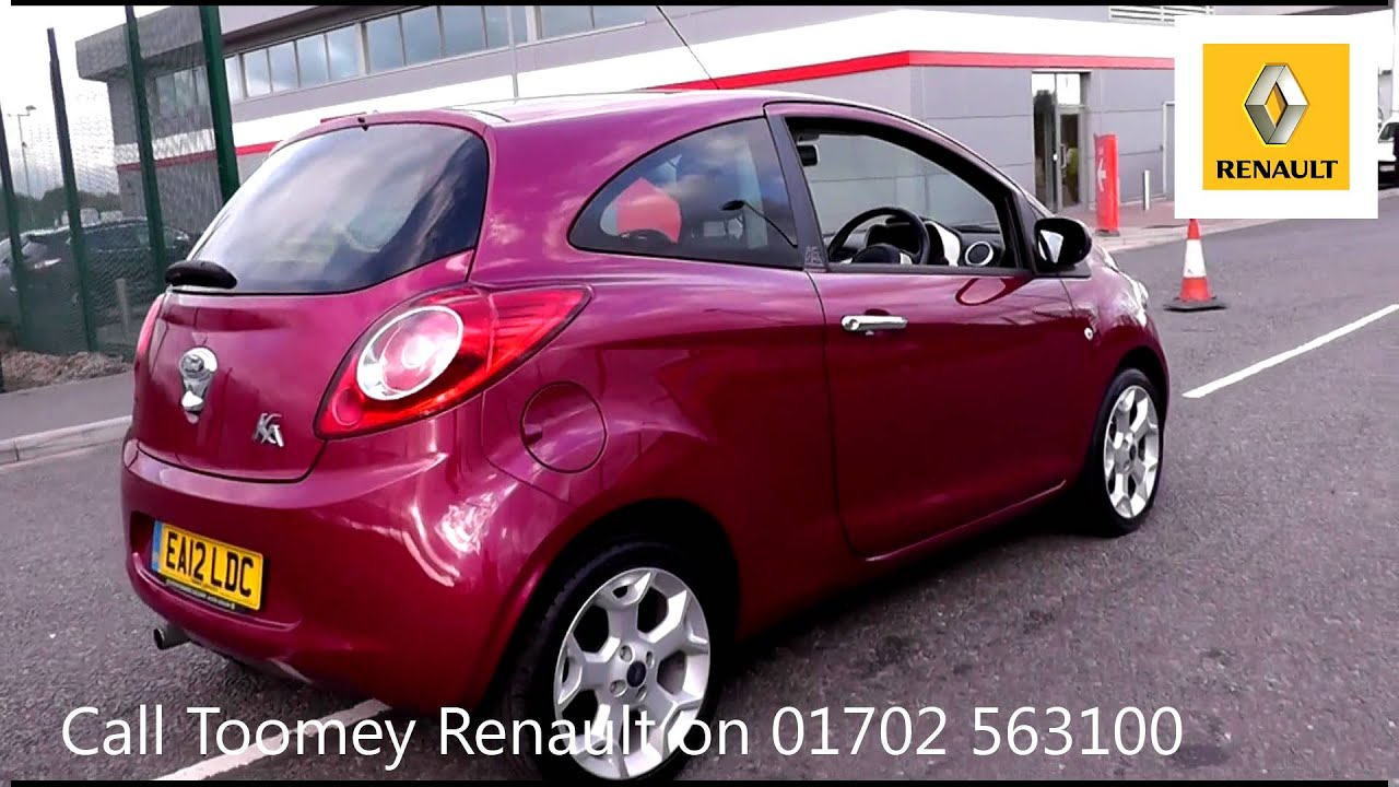 2012 ford ka titanium blush pearlescent ea12ldc for sale at toomeys renault southend youtube. Black Bedroom Furniture Sets. Home Design Ideas