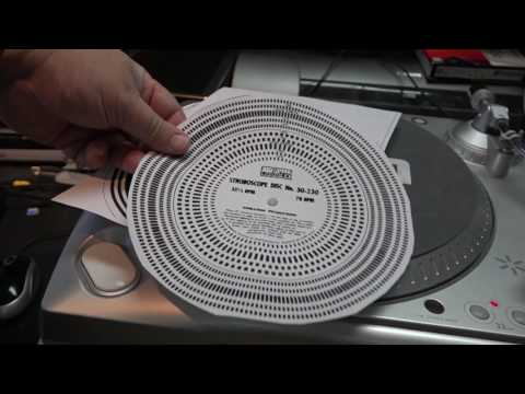 Strobe disk for turntable  speed construction