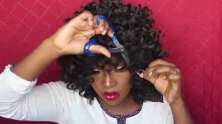 DIY; how to crochet wig with bang!!