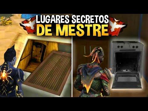 4 MANEIRAS DE PEGAR MESTRE! ESCONDERIJOS PARA SUBIR PONTOS. FREE-FIRE