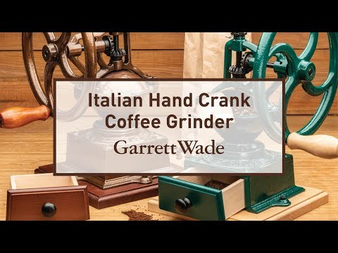 "Italian Hand Crank ""Burr-Style"" Coffee Grinder"