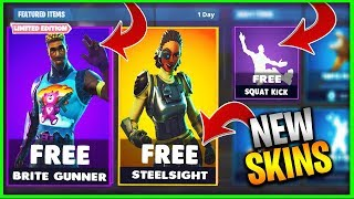 "How to get the New ""STEELSIGHT"" & ""RUSTY RIDER"" Free in Fortnite Battle Royale! (Fortnite Free Skin)"