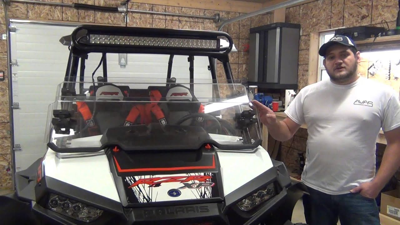 Windshield Installation For Allegheny Off Road Polaris