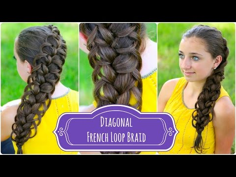 Hairstyle Video On Youtube : Diagonal French Loop Braid Braided Hairstyles - YouTube