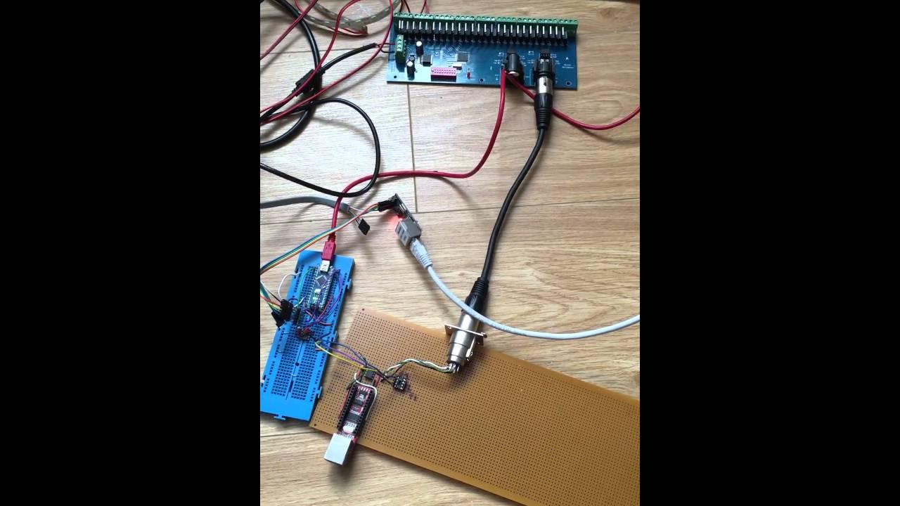Artnet DMX Arduino Nano/ENC28J60 by Cricky Lyttle