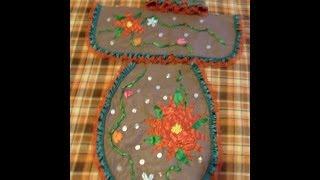 DIY Juego de baño bordado en listón para esta Navidad  1 de 4