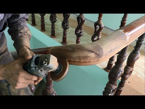 Amazing Project Installing Wood Stairs (Part 2)-Amazing Project Make Curved Railing For Wood Stairs