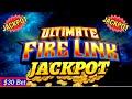 High Limit Ultimate Fire Link Slot Machine Handpay Jackpot w/$30 BET  ! Mega Slot Win | LAS VEGAS