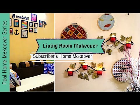 Living Room Makeover 2019 | Subscriber's Home Makeover | Small Budget Makeover