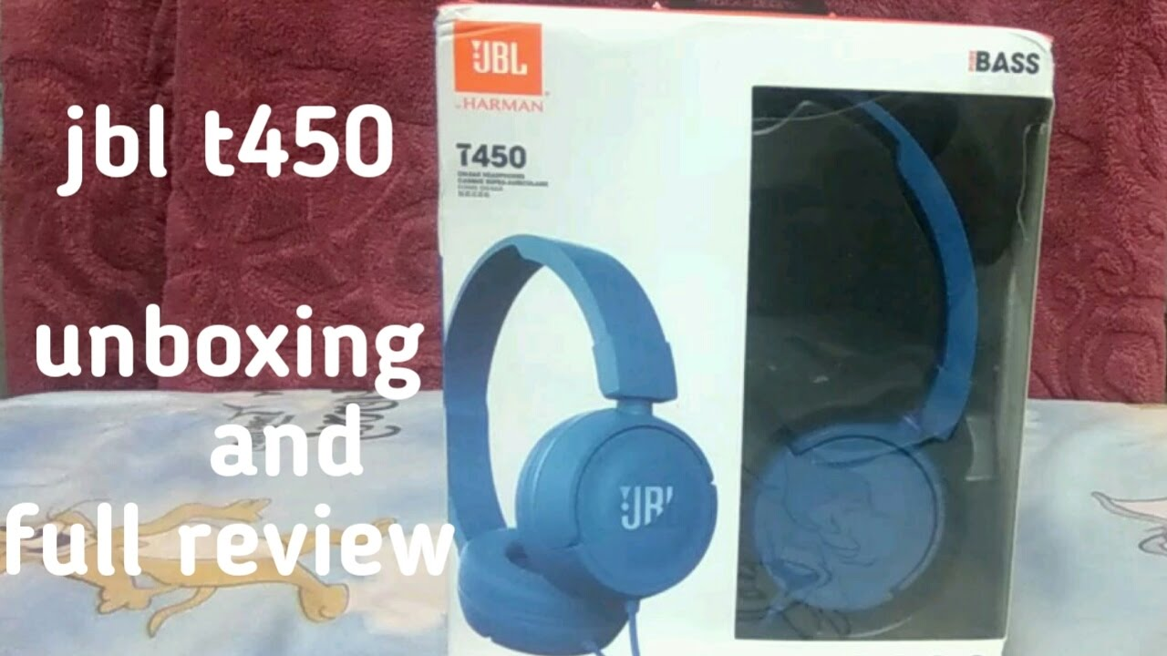 c5834d351a1 JBL T450 (BLUE) full review and unboxing - YouTube