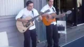 Latin Guitars performing at a wedding sydney Dolton House banel martinez
