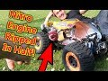 Nitro RC Car Engine Snaps in  HALF - MASSIVE CRASH