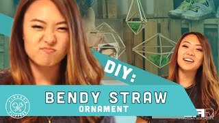 DIY Bendy Straw Ornament! - FINDERS FLIPPERS Ep. 2 w/ Yuri Tag