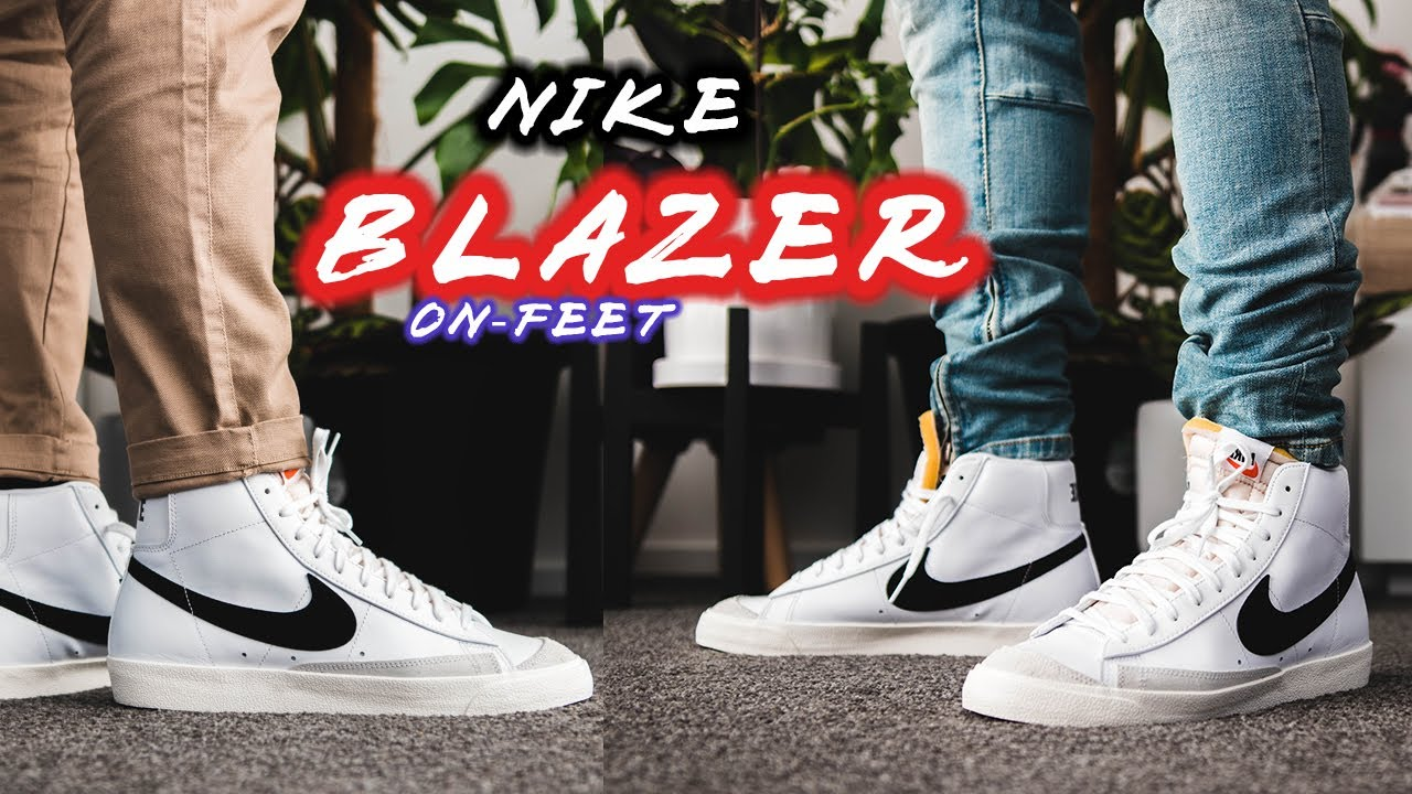 Perder la paciencia Gobernable Paradoja  Nike Blazer Mid '77 On-feet with Different Pants | Best Casual Nike of  2020? - YouTube