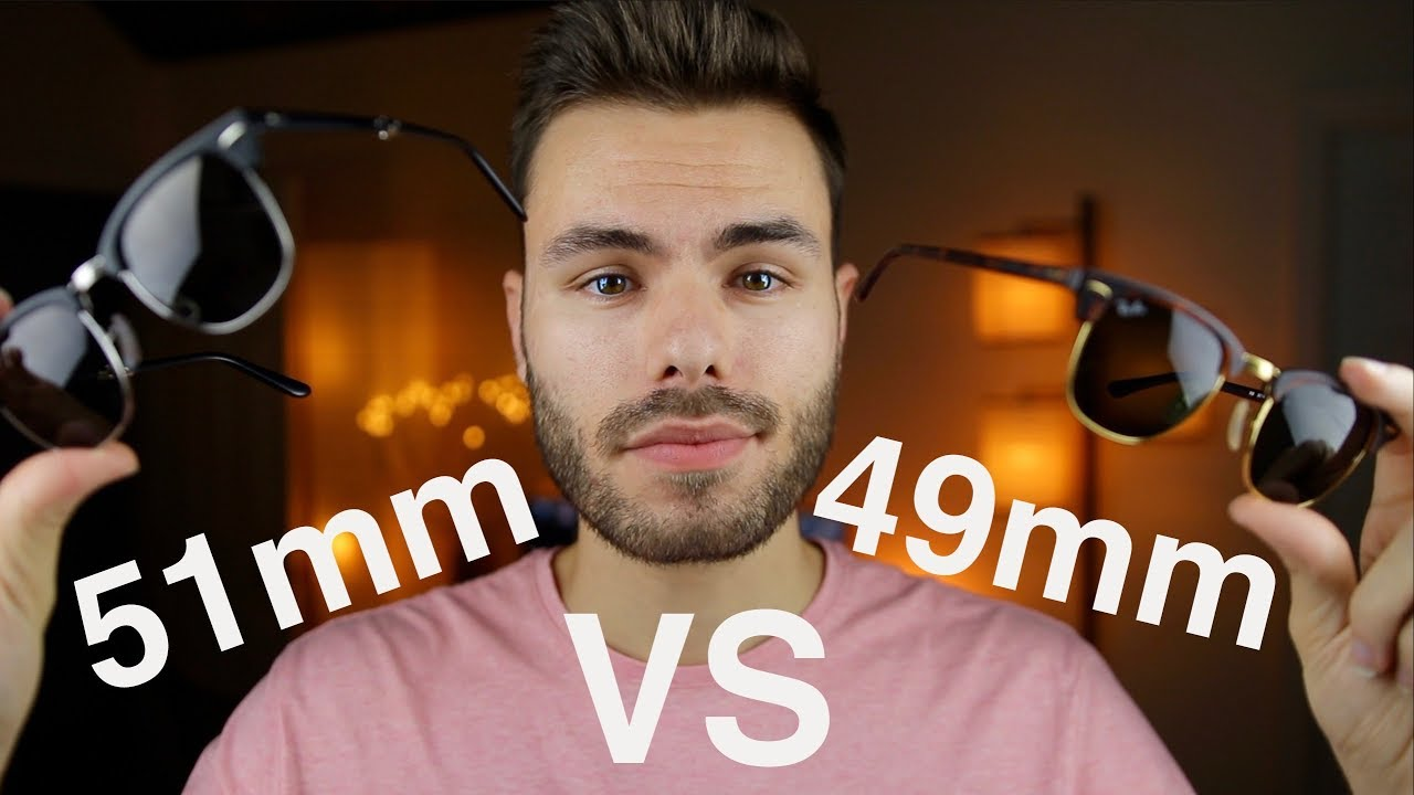 8b75440bff Ray-Ban Clubmaster Size Comparison 49mm vs 51mm - YouTube