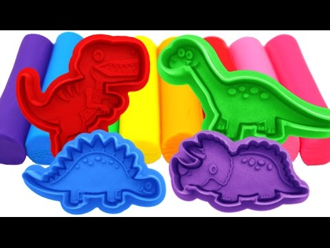 Thumbnail: Learn Colors Play Doh Dinosaur Molds Fun & Creative for Kids Rhymes