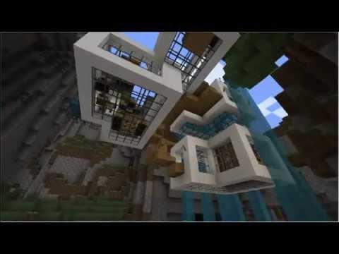 Maison design sur minecraft youtube - Maison design minecraft ...