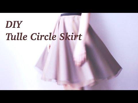 DIY Tulle Circle Skirt / Sewing Tutorialㅣmadebyaya - YouTube