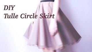 vuclip DIY Tulle Circle Skirt / Sewing Tutorialㅣmadebyaya