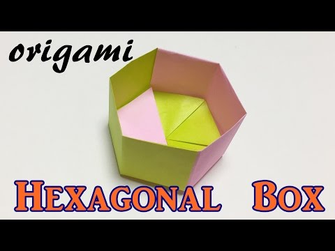 How to make a paper hexagonal box   origami hexagonal box tutorial easy