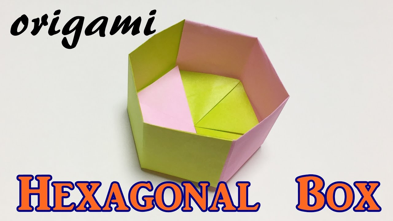 how to make a paper hexagonal box origami hexagonal box tutorial easy [ 1280 x 720 Pixel ]