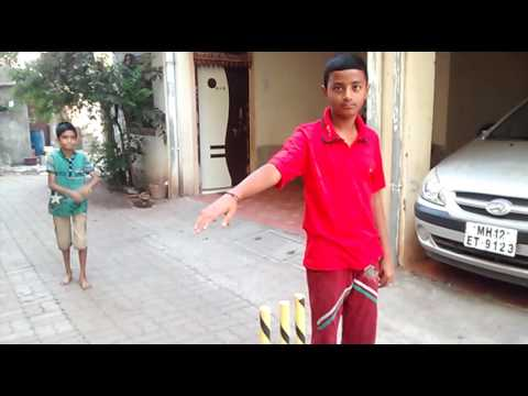 Boys Playing Gully Cricket