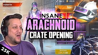 ARACHNOID CRATE OPENING MADE MY HEART STOP - PUBG Mobile thumbnail